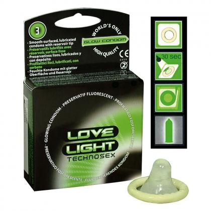 Love Light Glowkondom 3er