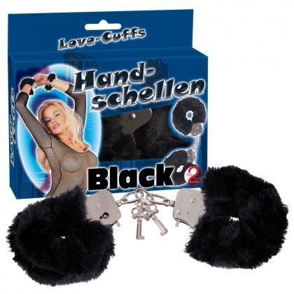 """Handsch. """"Love Cuffs"""" schwarz"""