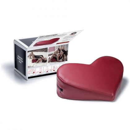 Faux Leather Heart WedgeClaret