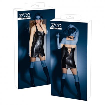 Leder Minikleid schwarz S