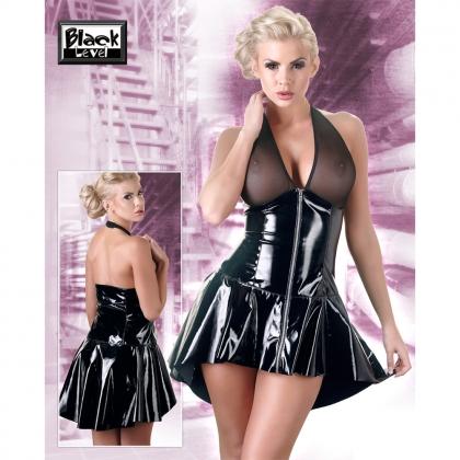 Lack Kleid mit Netz XL