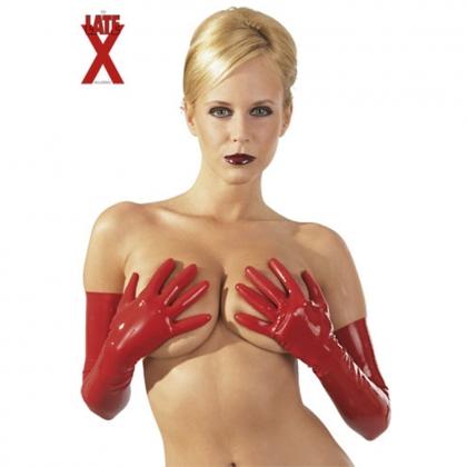 Latex Handschuhe rot S