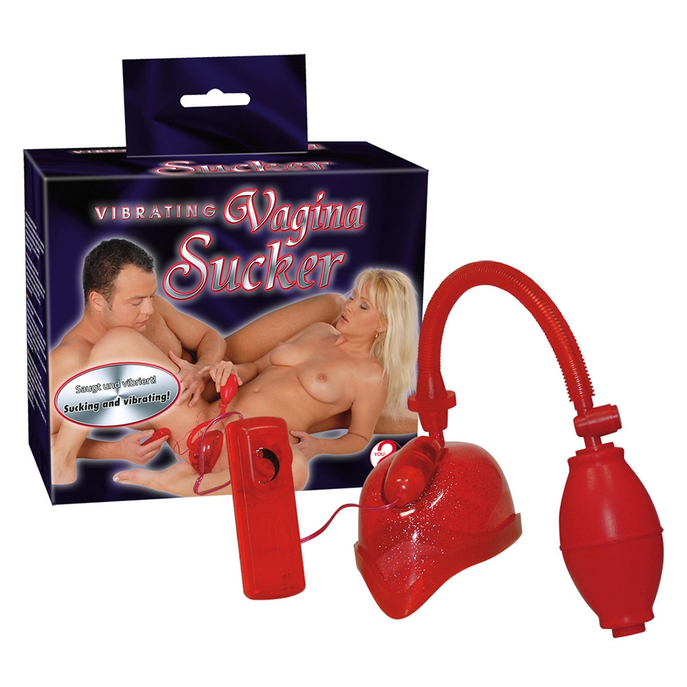 Vibrating Vagina Sucker red