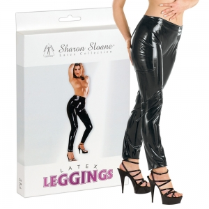 Latex Leggings schwarz M