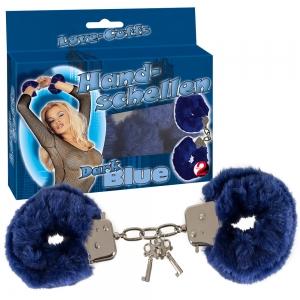 """Handsch. """"Love Cuffs"""" blau"""