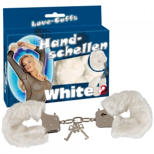 """Handsch. """"Love Cuffs"""" Weiß"""