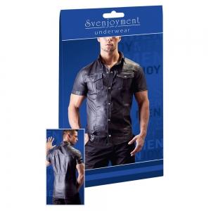 Lederimitat Herren Hemd XL