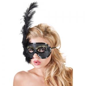 Maske mit Federn