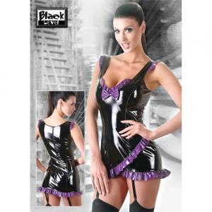 Lack Kleid schwarz/lila
