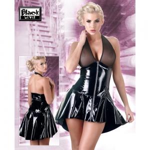 Lack Kleid mit Netz