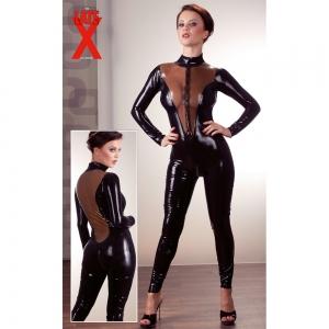 Latex Catsuit schwarz M